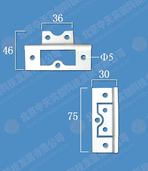 折叠门铜合页(大珍珠白)